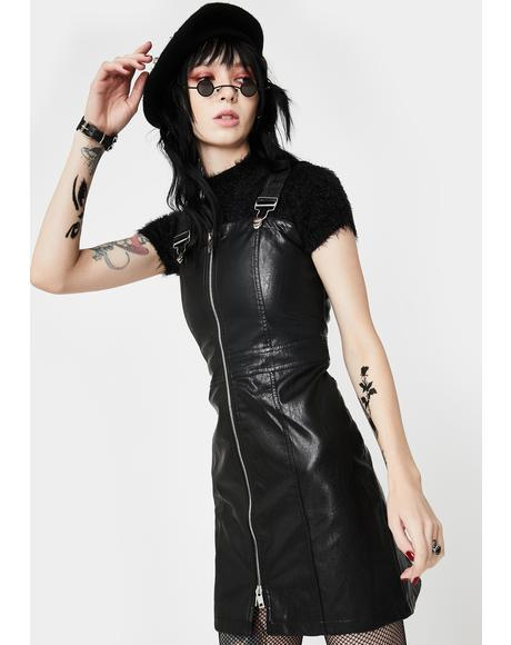 Zip Up Overall Dress