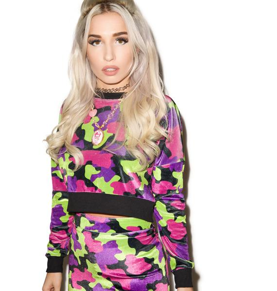 Hi! Expectation Camo Sweatshirt