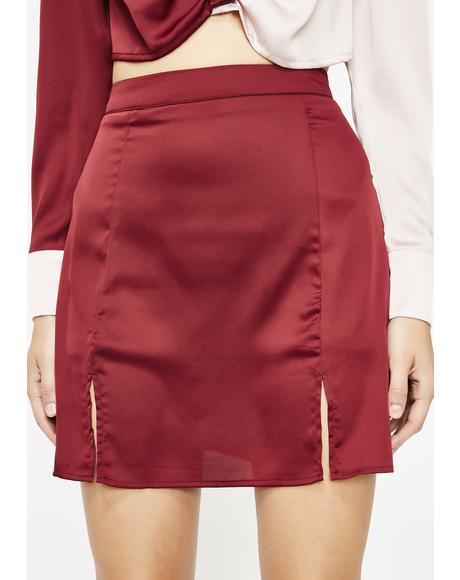 Saucy Lady Satin Skirt