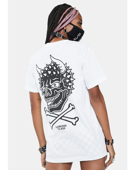 White Crossbones Graphic Tee