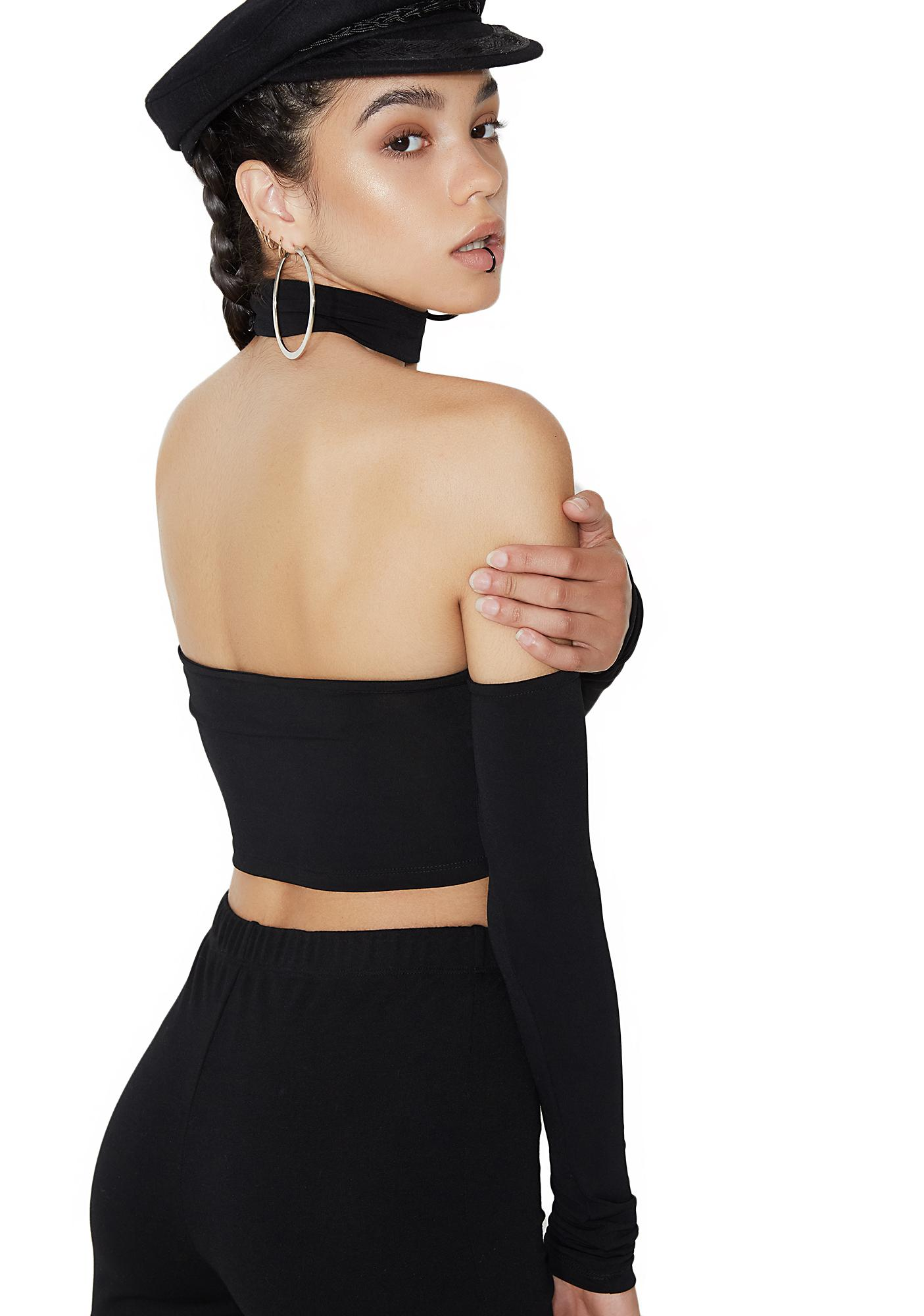Motel Mya Off-Shoulder Crop Top