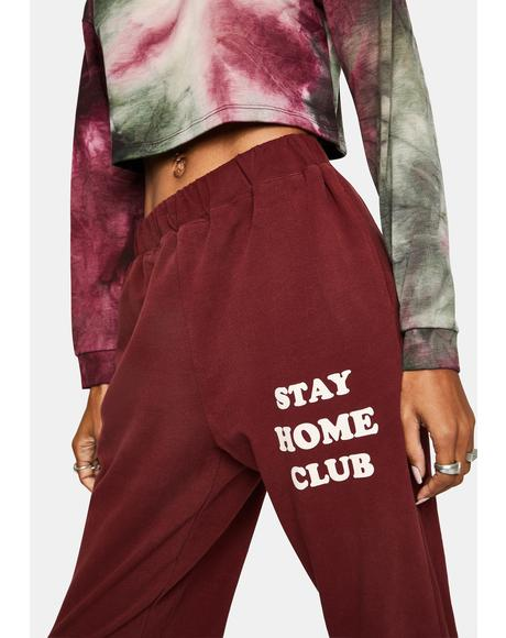Wine Stay Home Club Joggers