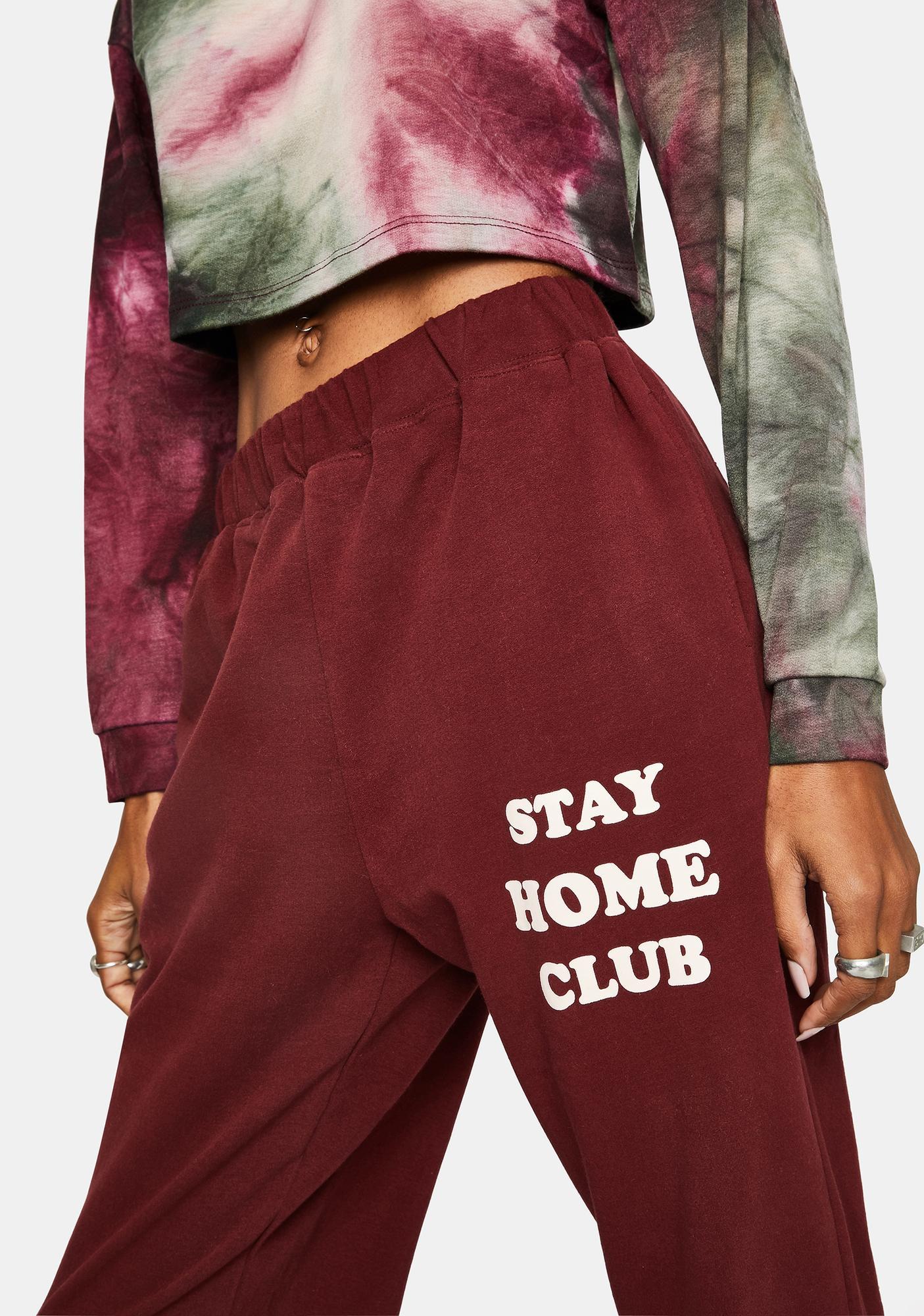 Daisy Street Wine Stay Home Club Joggers