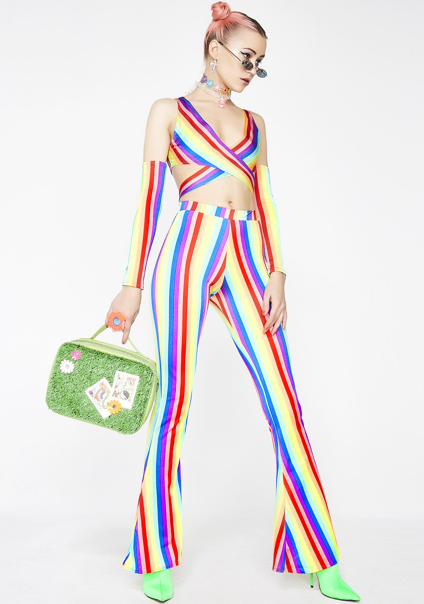 Babydol Clothing  Rainbow High Waisted Flares
