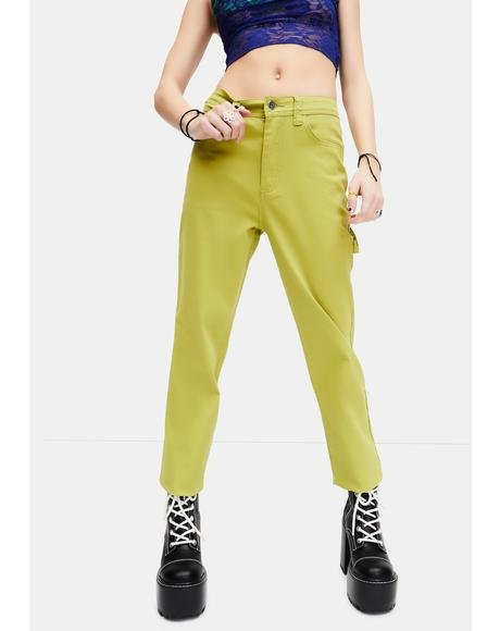 Not Ur Teachers Pet Twill Carpenter Pants