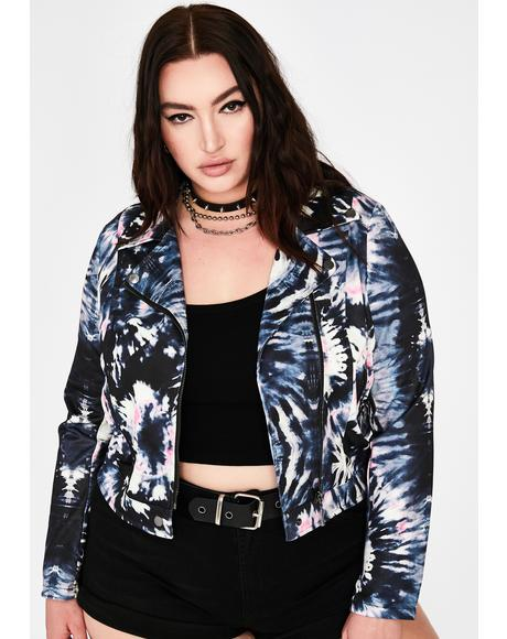 Queen Ink Blotter Moto Jacket