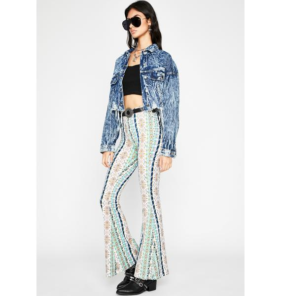Kaleidoscope Connection Flare Pants