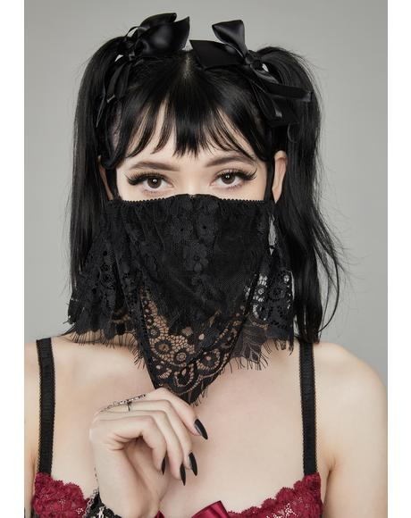 Haunted Memory Lace Veil Face Mask