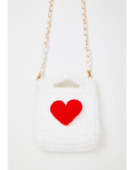 Pure Stitches Of Love Crossbody Bag