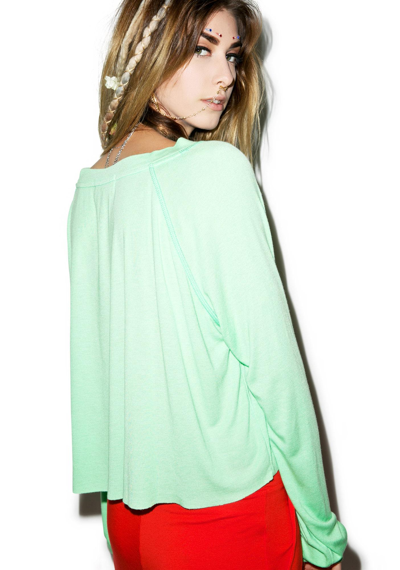 Wildfox Couture All Seeing Eye Monte Crop Sweater