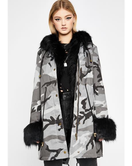 Take Me Places Camo Coat