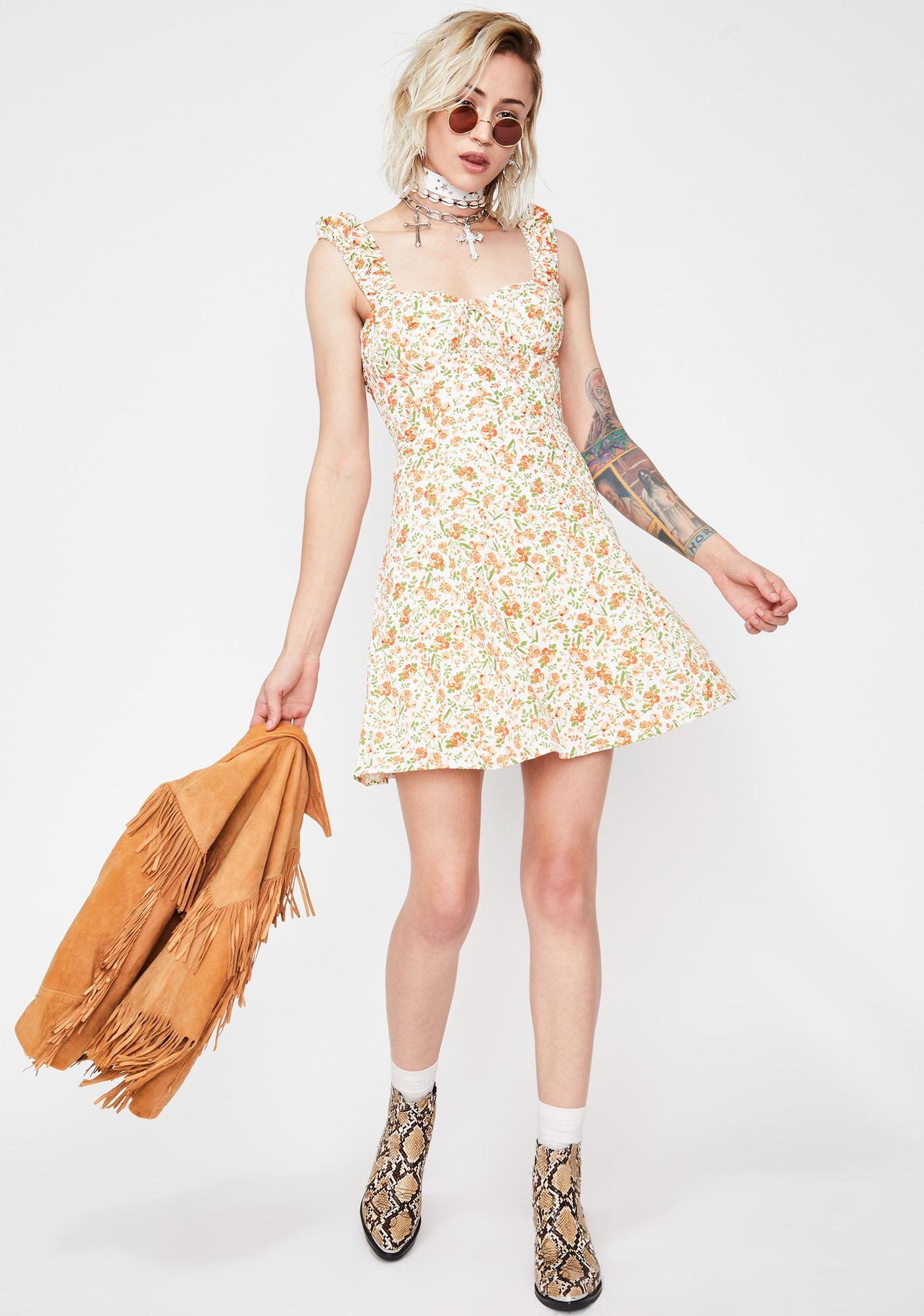 Tangelo Temptation Mini Dress