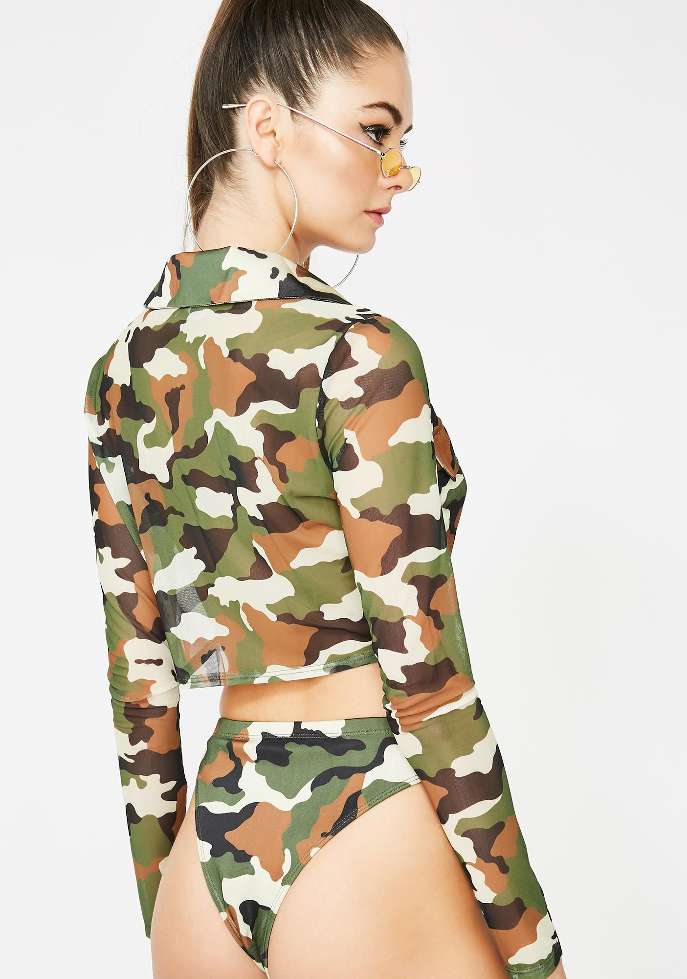 Baddie Revolution Camo Crop Top