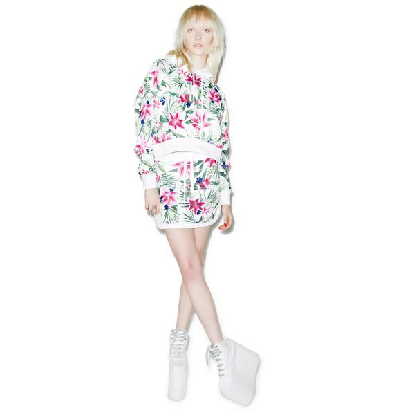 Joyrich Optical Garden Cropped Hoodie