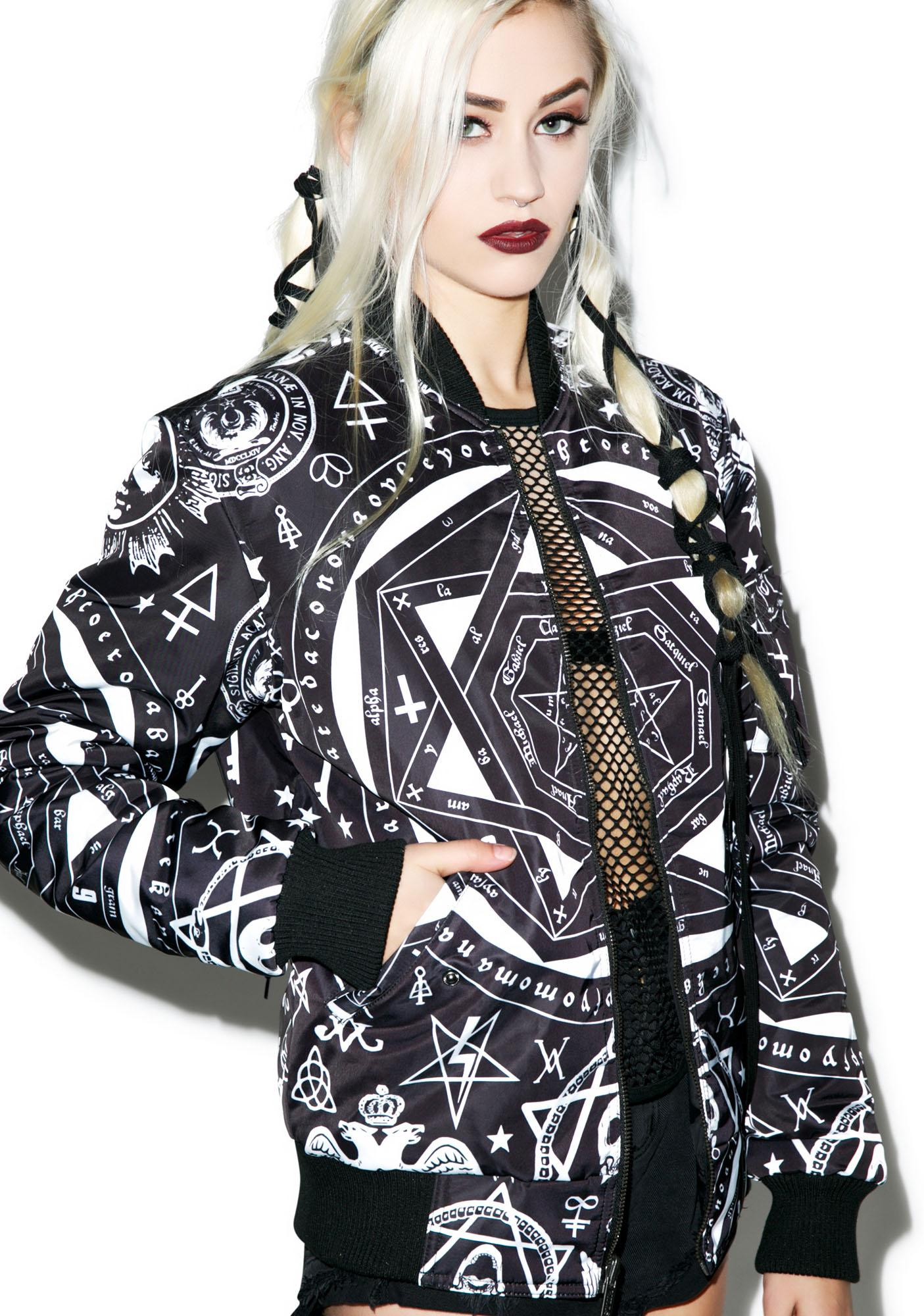 Killstar Occult Reversible Bomber