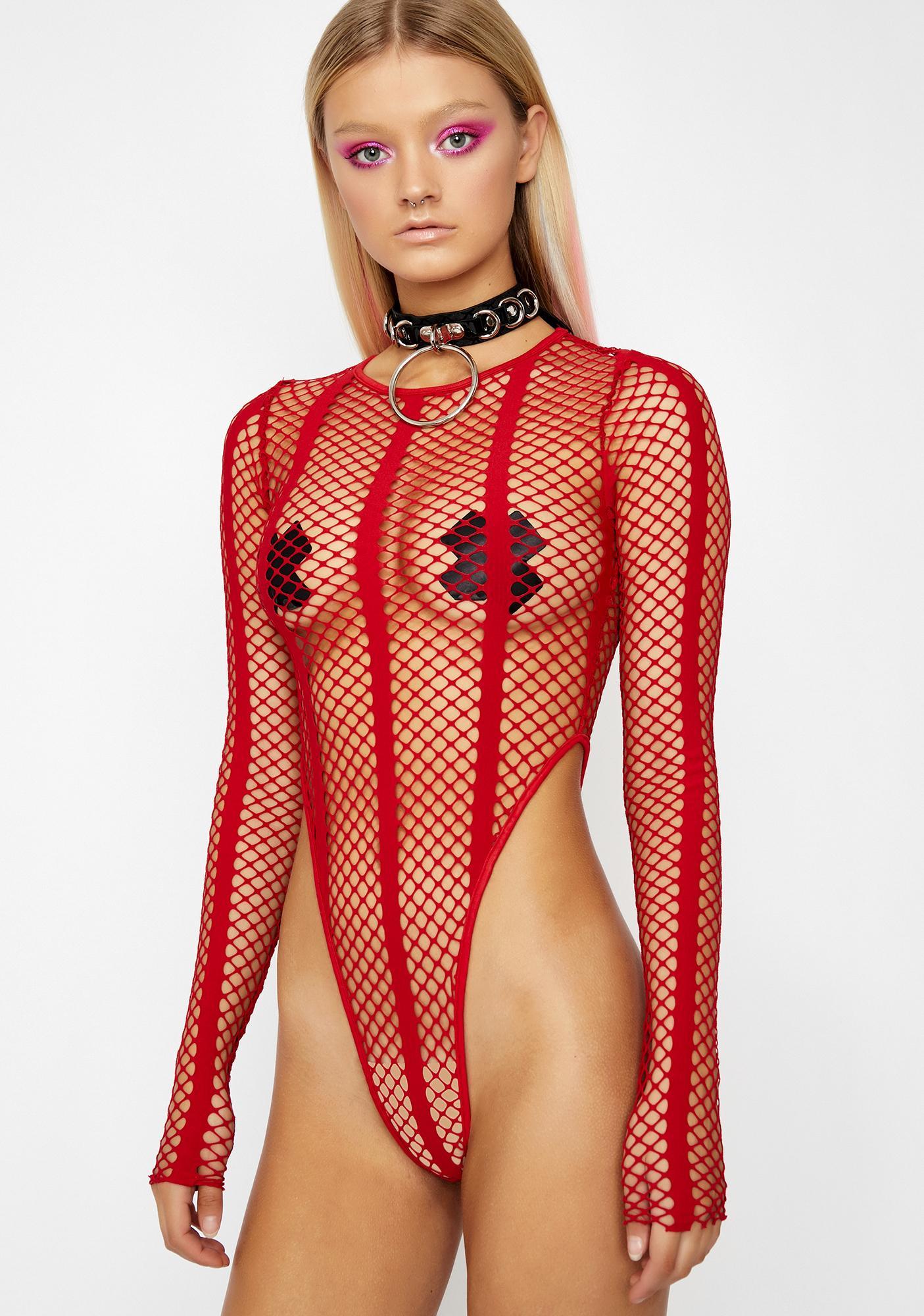 c99e460c8f1 ... Flame Chaotic Vixen Fishnet Bodysuit ...