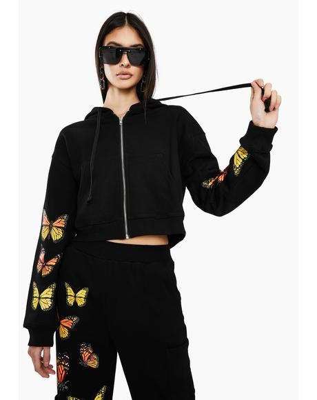 Black Monarch Butterfly Jacket