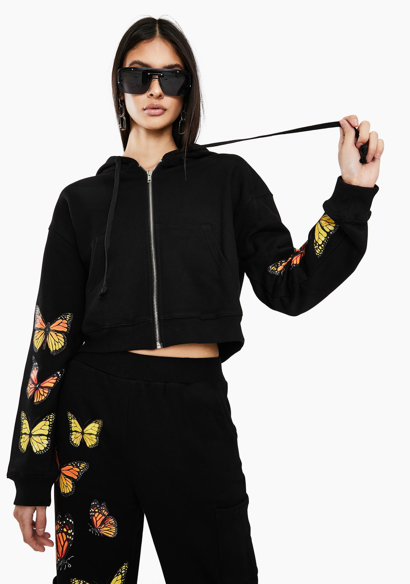 THE KRIPT Black Monarch Butterfly Jacket