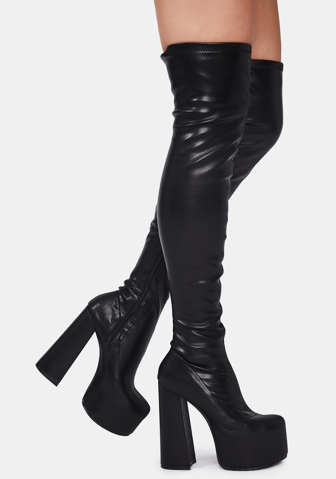 Lemon Drop by Privileged Havasu Knee High Boots