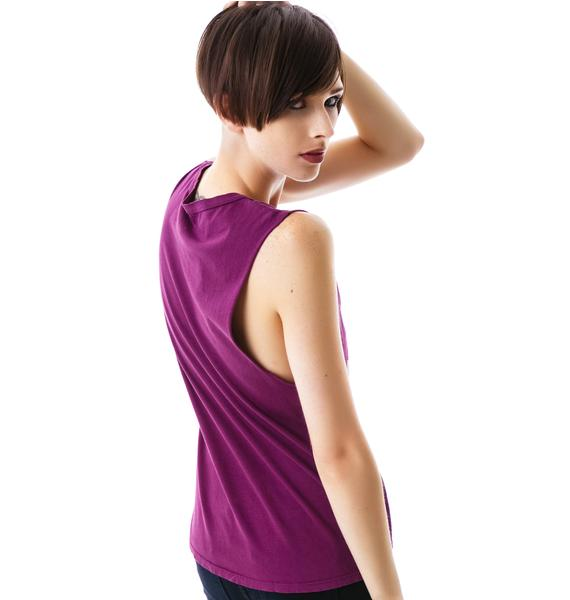 Purple Rain Ankh Basic Muscle Tank