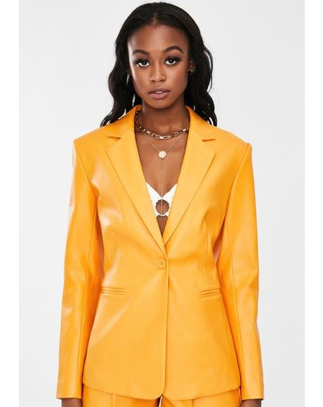 Karma Vegan Leather Blazer