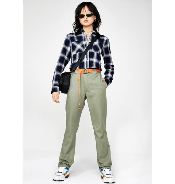 Dickies Girl Crop Flannel Shirt