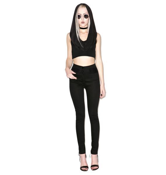 Widow Batcave Stretch Skinny Jeans