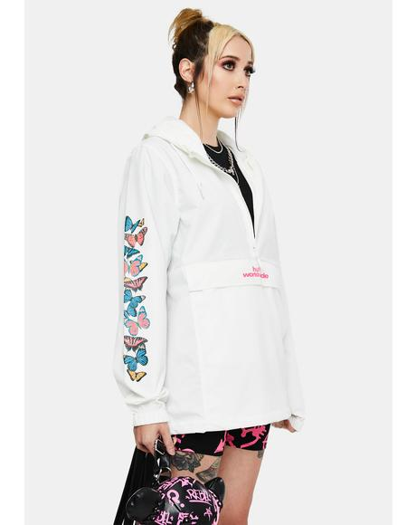 White Monarch Anorak Jacket