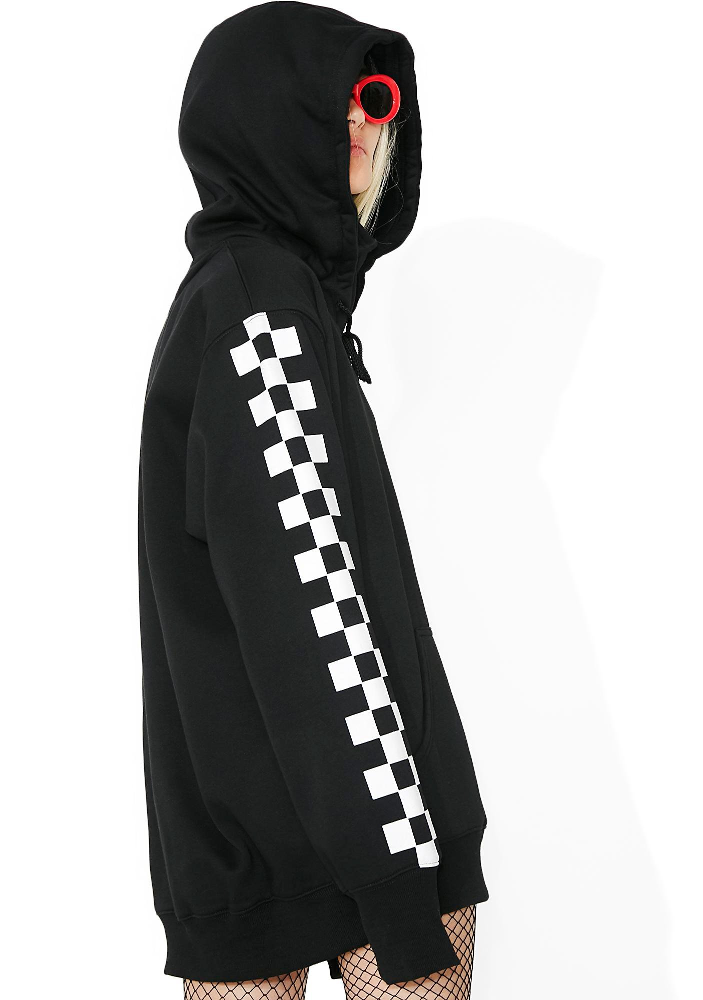 Current Mood Checkmate Masked Hoodie Dress