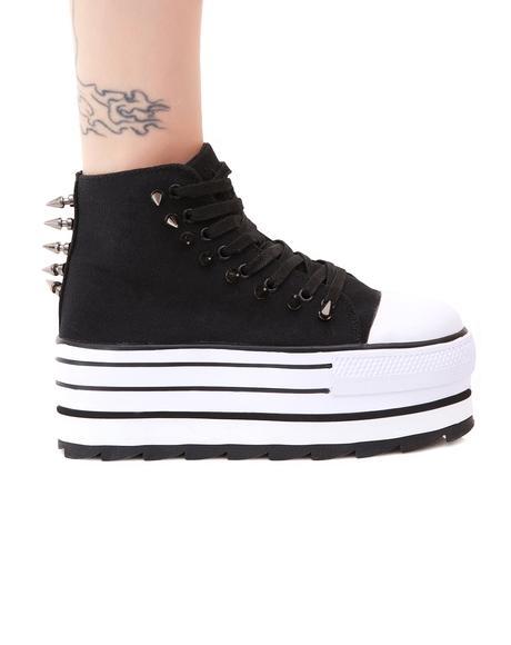 Spiked Elevation Platform Sneakers