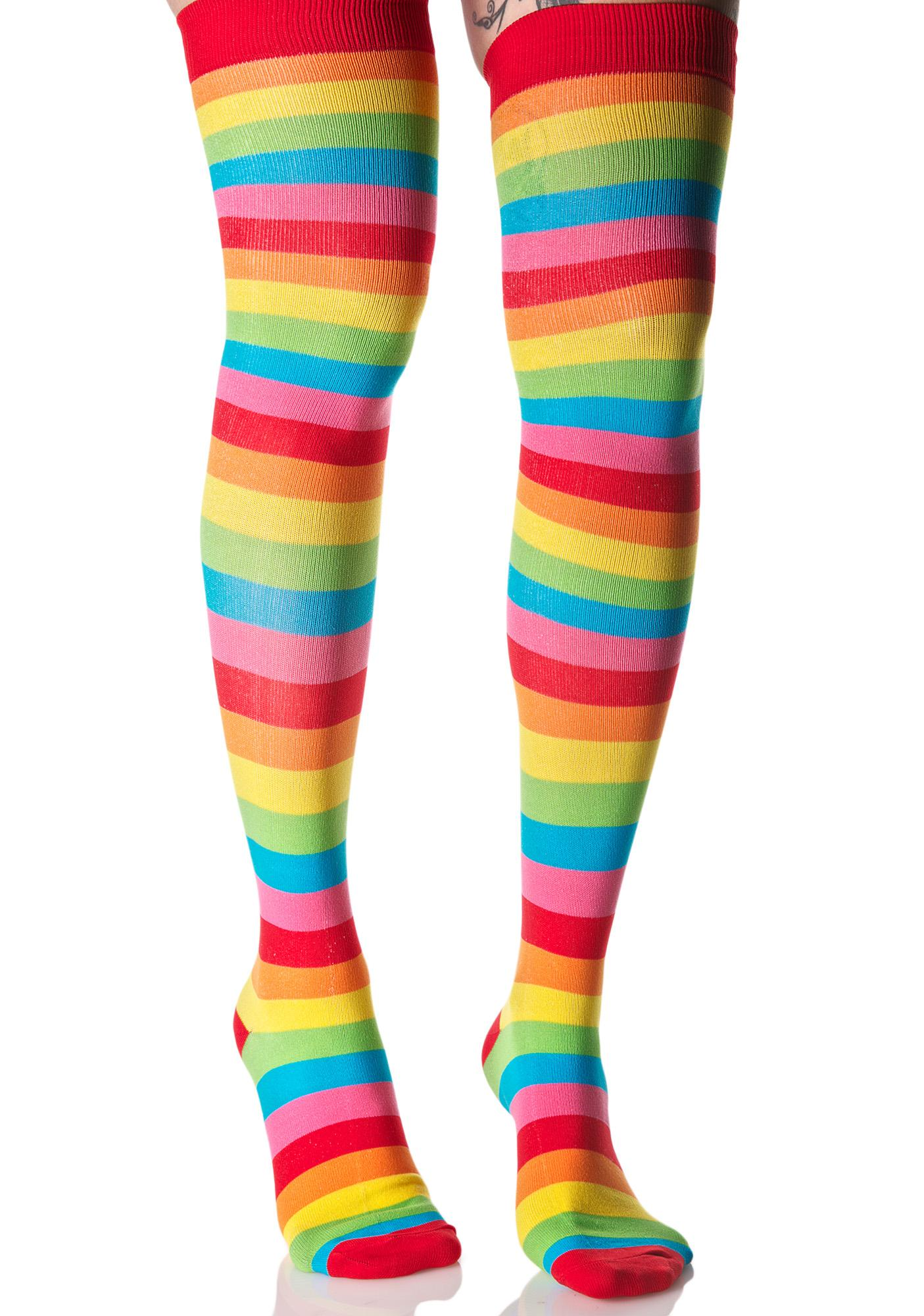 Rainbow Cutie Thigh Highs