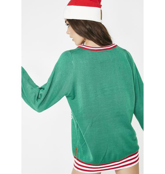Tipsy Elves Namasleigh Ugly Christmas Sweater