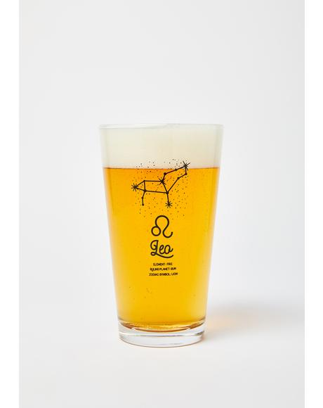 Leo Star Sign Pint Glass