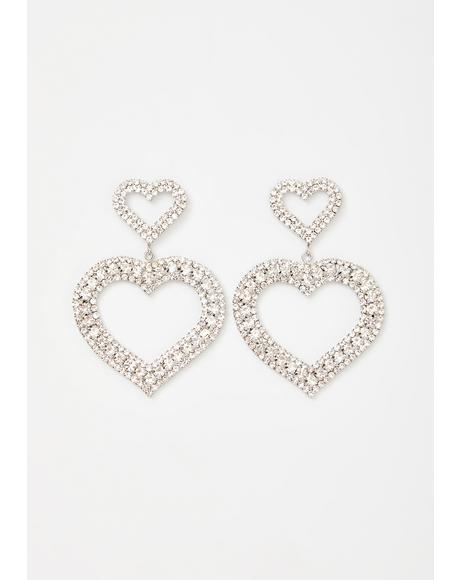 Show Some Love Heart Earrings