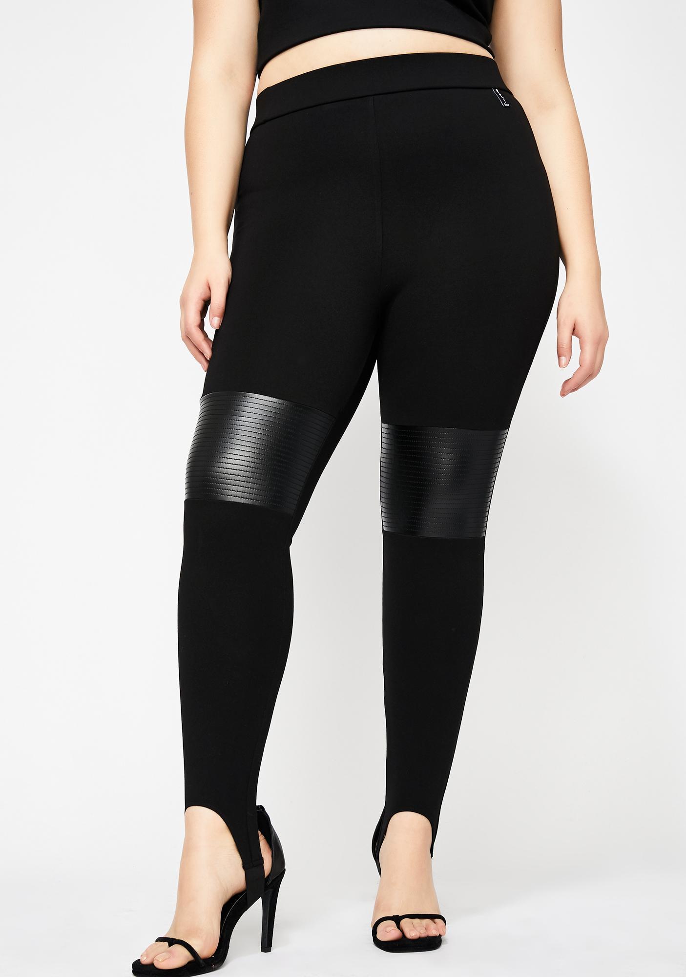 4f7dcde2e143e Plus Size Poster Grl Moto Leather Leggings | Dolls Kill