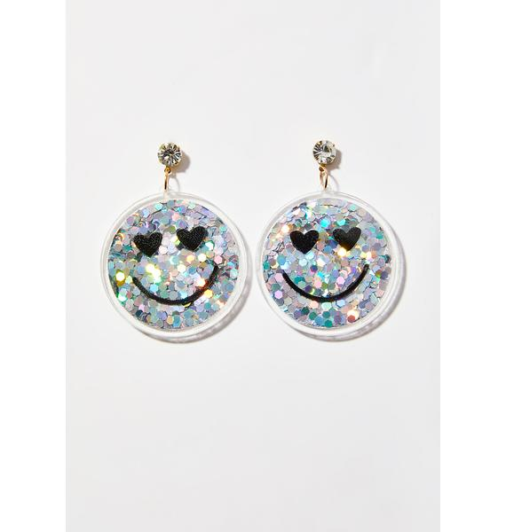 Happy Pillz Hologram Earrings