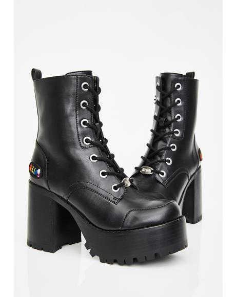 Night Joyful Noise Platform Boots