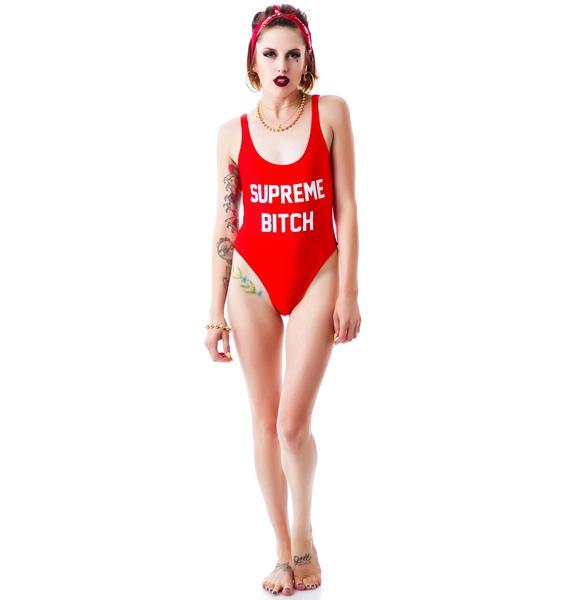 Married to the Mob Supreme Bitch Swim Rockaway Swimsuit