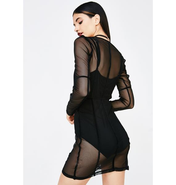 Freeze Frame Sheer Dress