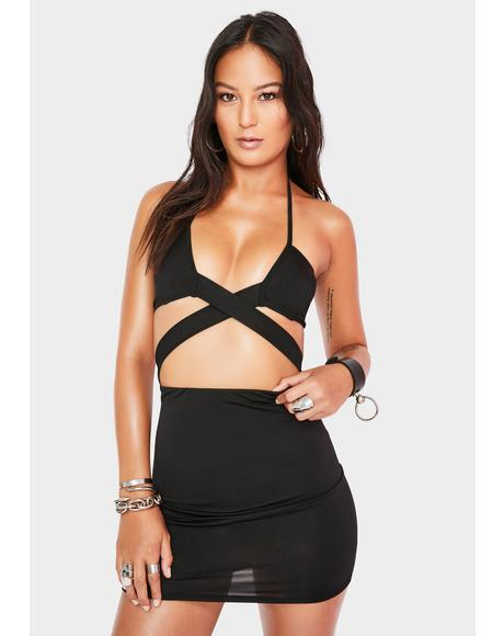 Shut It Down Cut Out Dress
