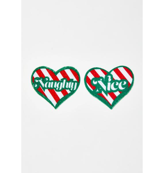 Pastease Naughty Or Nice Heart Pasties
