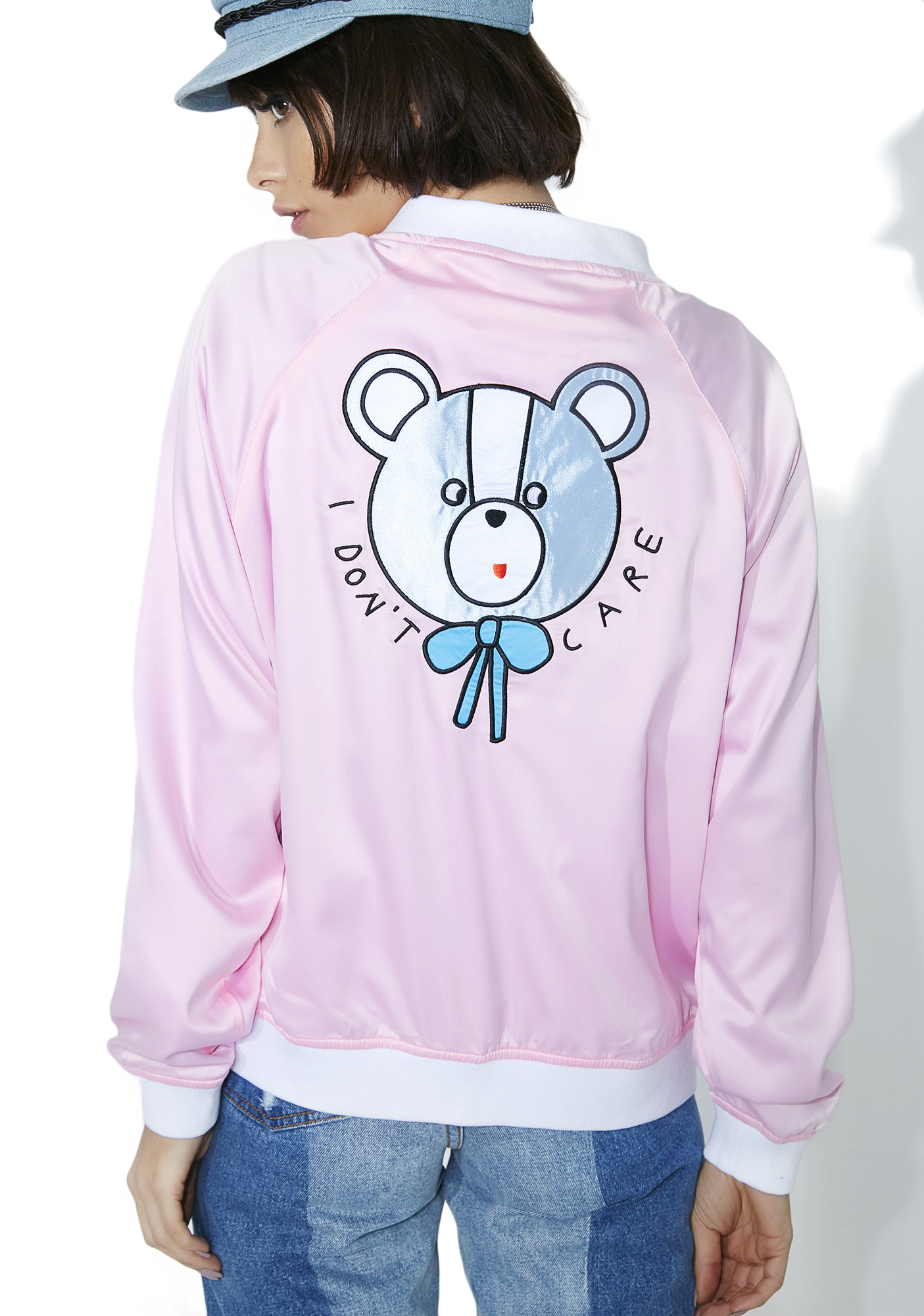 Lazy Oaf I Don't Care Bear Bomber