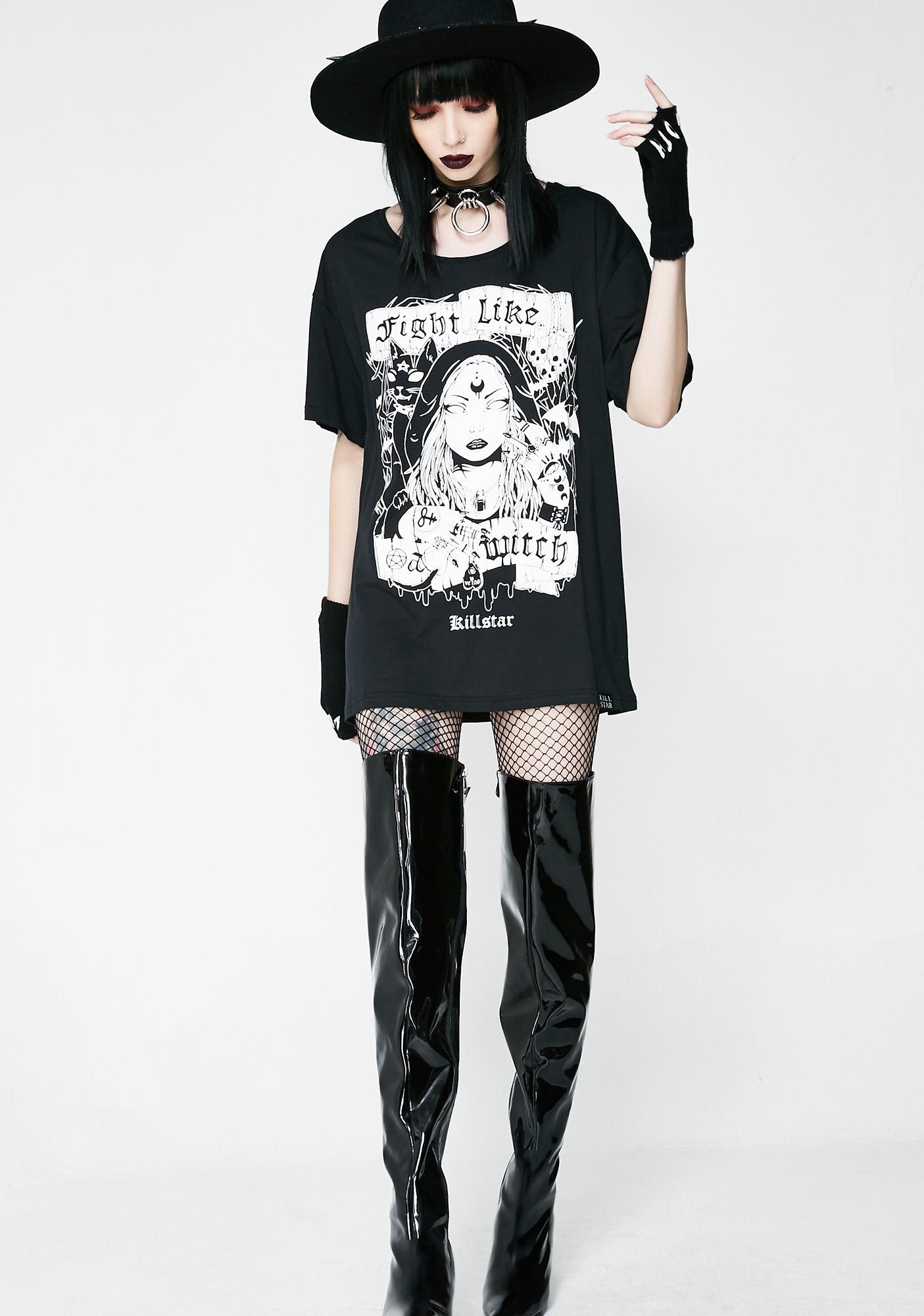Killstar Fight Like A Witch Relaxed Top