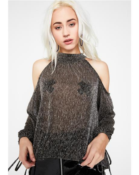 Take Me Out Cold Shoulder Top