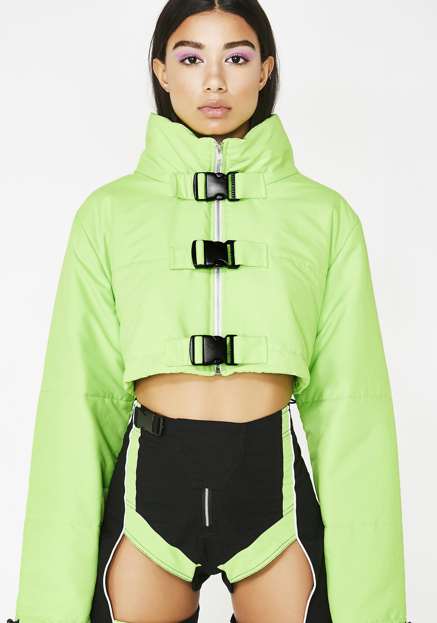 cae5c0d783d4 Lipt The Label Cropped Puffer Jacket