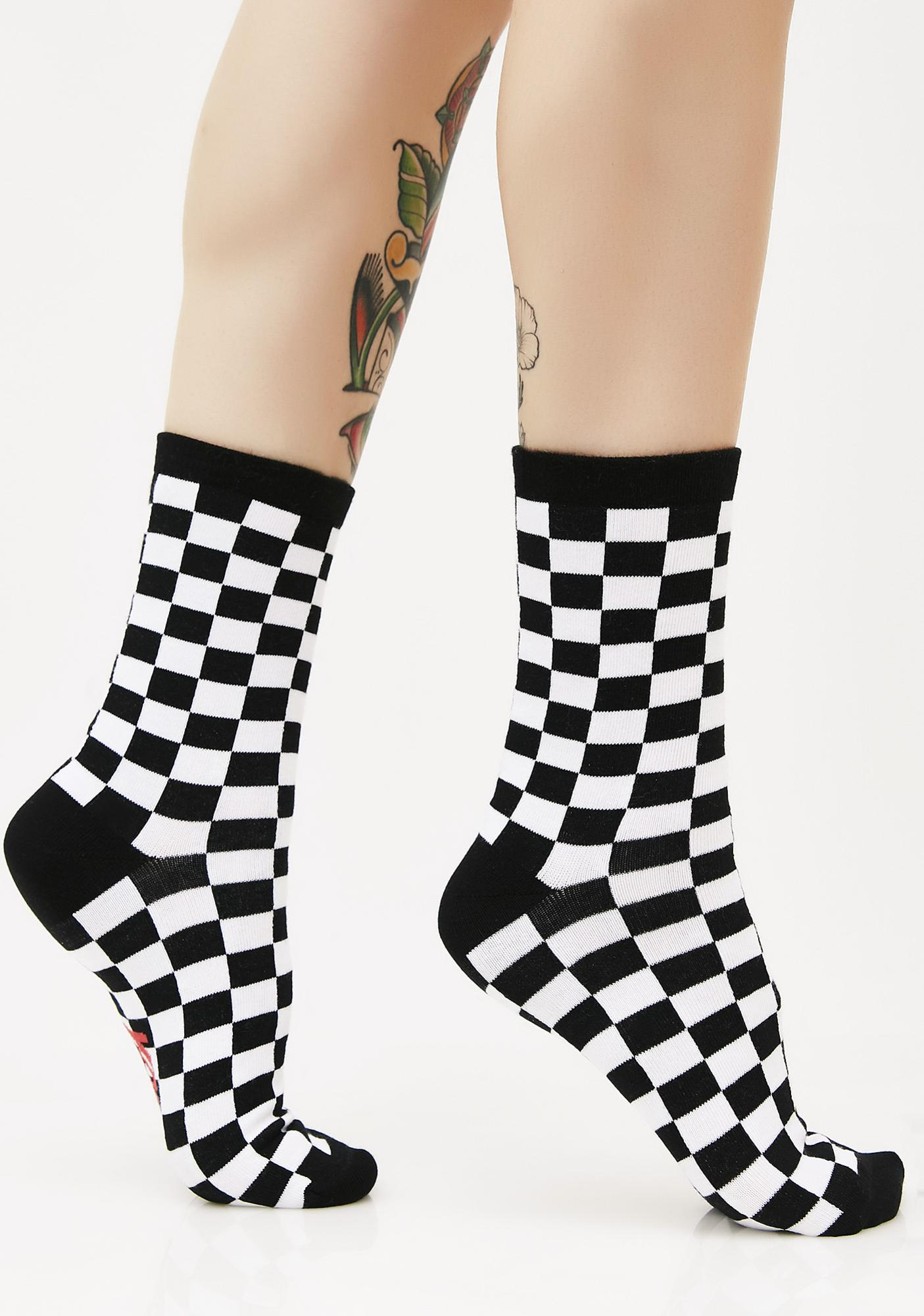 Local Heroes Fuck You Checkered Socks