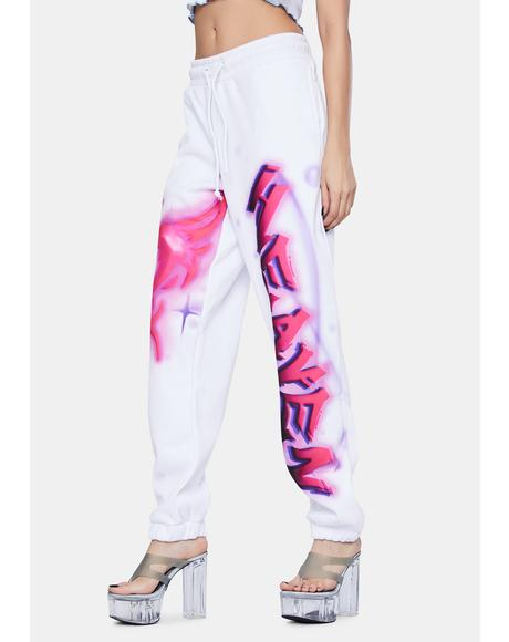 Pink Heaven Print Oversized Sweatpants