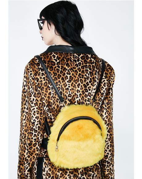 Golden So Over It Fluffy Backpack