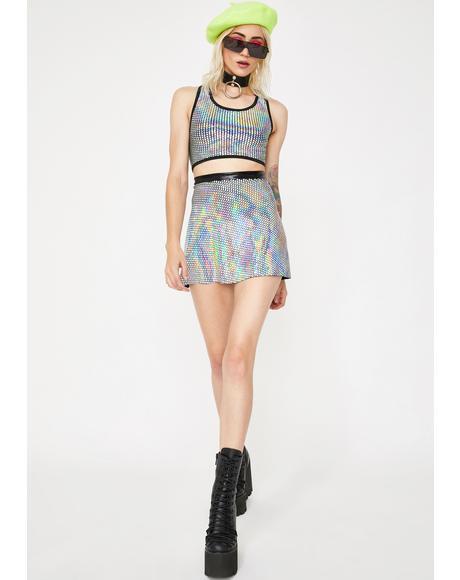 Disco Circle Skirt