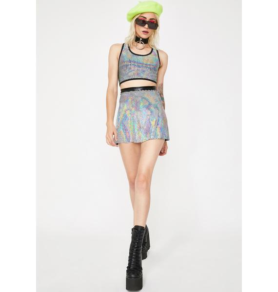 Cosmic Unicornz Disco Circle Skirt
